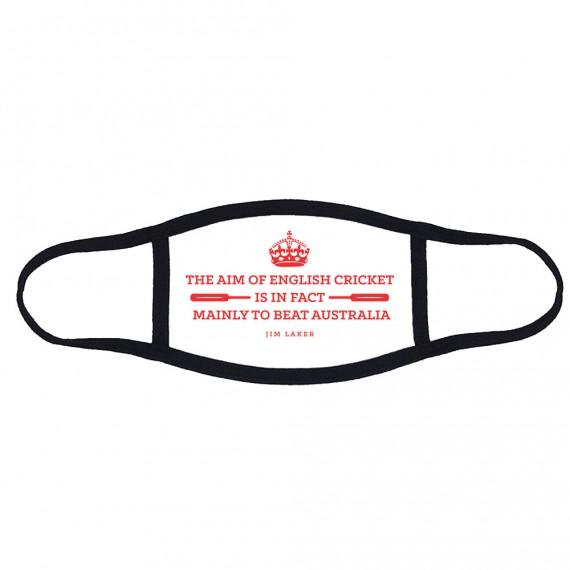 "Jim Laker ""The Aim Of English Cricket"" Face Mask T-Shirt"