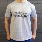 "John Arlott ""Cricket and Politics"" Quote T-Shirt"