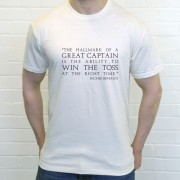 "Richie Benaud ""Great Captain"" Quote T-Shirt"