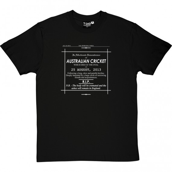 Ashes Obituary 2013 T-Shirt