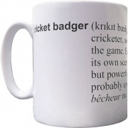 Cricket Badger Definition Ceramic Mug