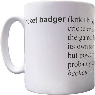 Cricket Badger Definition Ceramic Mug