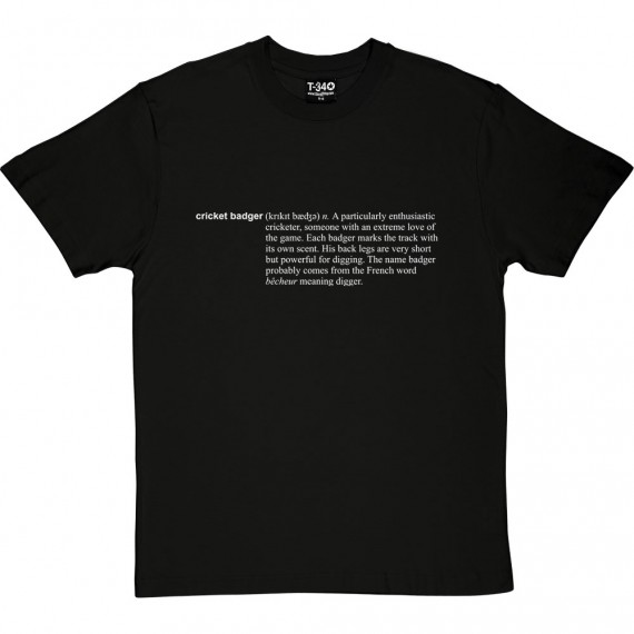 Cricket Badger Definition T-Shirt