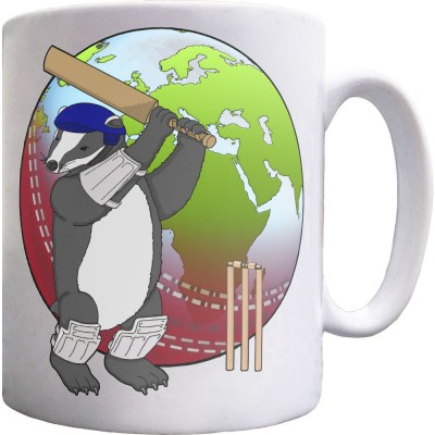 Cricket Badger Logo Ceramic Mug