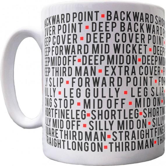Cricket Fielding Positions Ceramic Mug