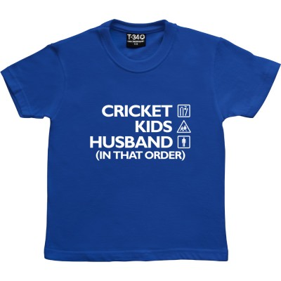 Cricket, Kids, Husband (In That Order)