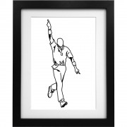 Curtly Ambrose Sketch Art Print