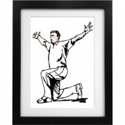 Andrew Flintoff Sketch Art Print