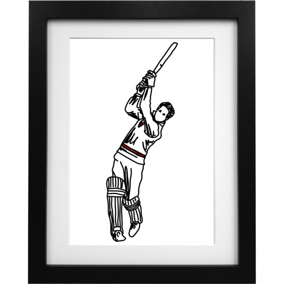 Garfield Sobers Sketch Art Print