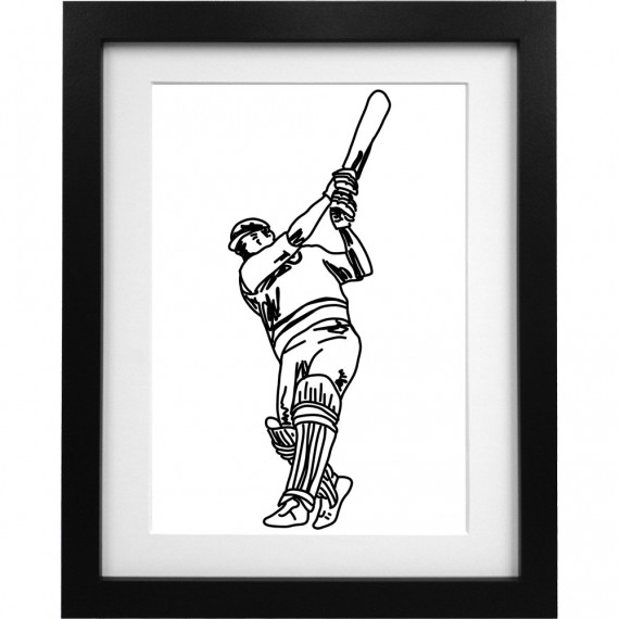 Gordon Greenidge Sketch Art Print