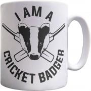 I Am A Cricket Badger Ceramic Mug