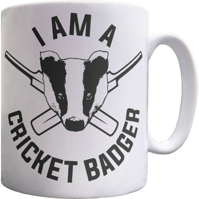 I Am A Cricket Badger Ceramic Mug