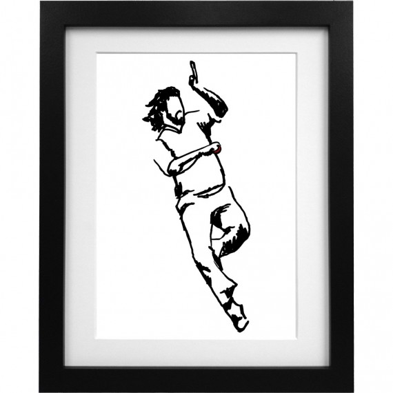 Ian Botham Sketch Art Print