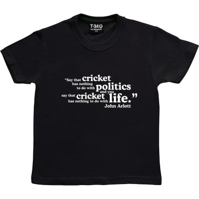 "John Arlott ""Cricket and Politics"" Quote"