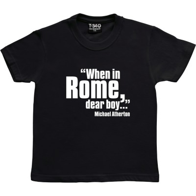 "Michael Atherton ""When In Rome, Dear Boy"""