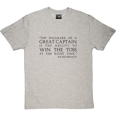 """Richie Benaud """"Great Captain"""" Quote"""