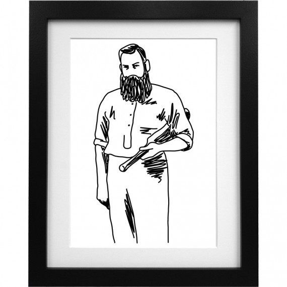 WG Grace Sketch Art Print
